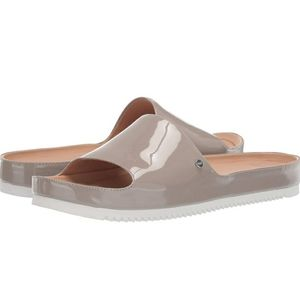 UGG oyster slides Patent Womens Sandals New 9